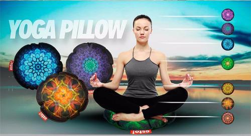 almohadon souvenir regalo yoga tipo zafu decoracion by esto!