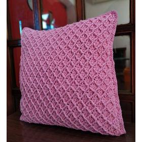 Almohadón Tejido A Crochet 40 X 40 Cm