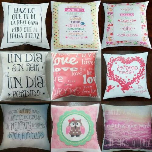 almohadones 30x30 personalizados frases