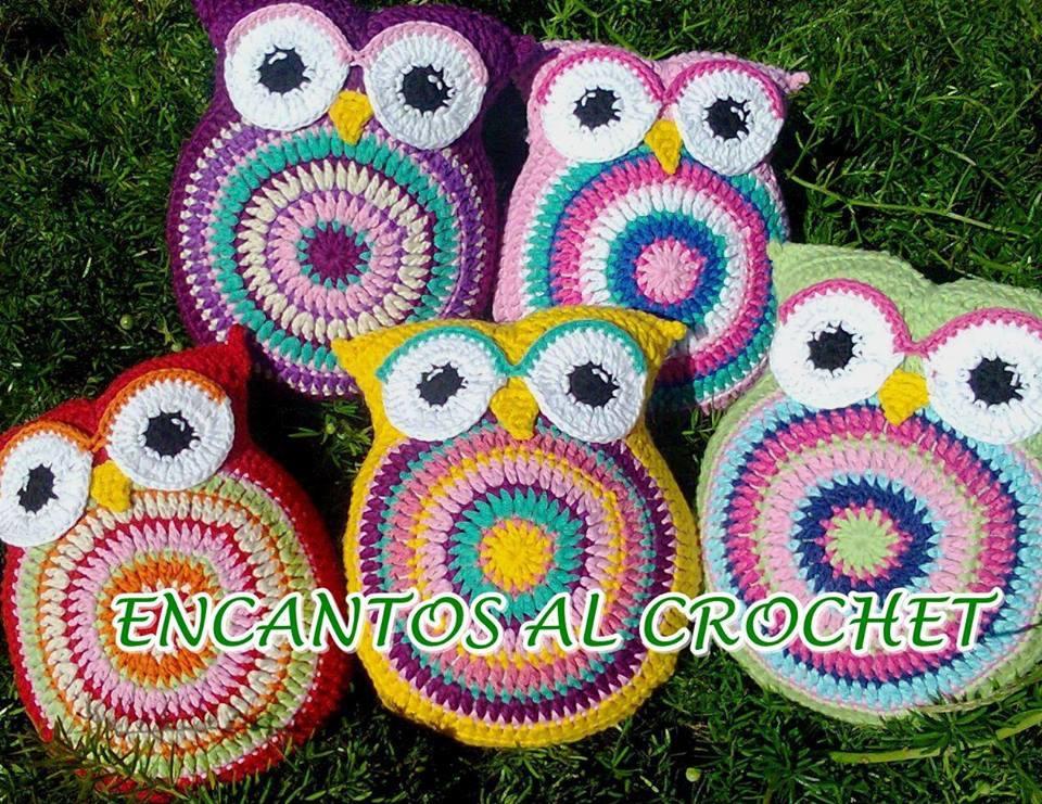 Almohadones Búhos Chicos. Encantos Al Crochet - $ 350,00 en Mercado ...