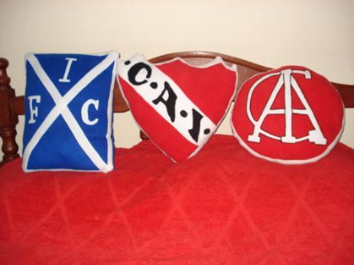 almohadones central-estudiantes-huracan-independiente-quilme