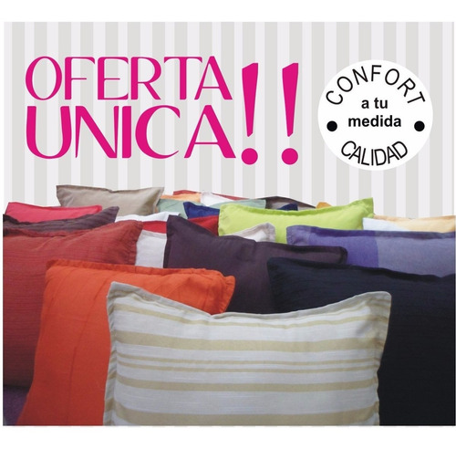 almohadones -combox2-  funda desmontable, hasta agotar stock