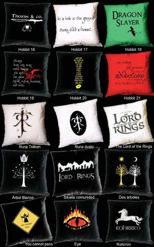 almohadones estampados tolkien lord of the rings hobbit