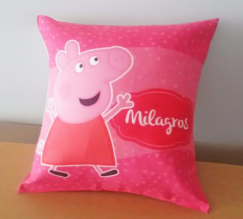 almohadones infantiles estampados personalizados 30x30 cm