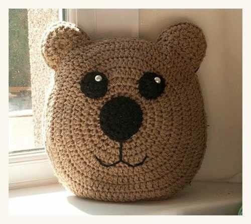 Almohadones Infantiles Tejidos Al Crochet   $ 250,00 en Mercado Libre