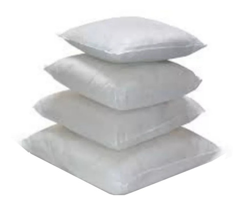almohadones para relleno 50x50 fibra siliconada.