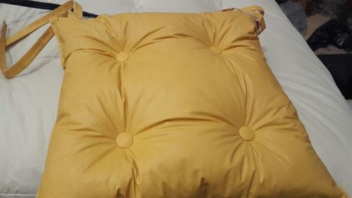 almohadones para silla con 4 botones - ecocuero 1era calidad