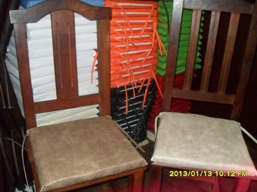 almohadones para silla con cintas para atar