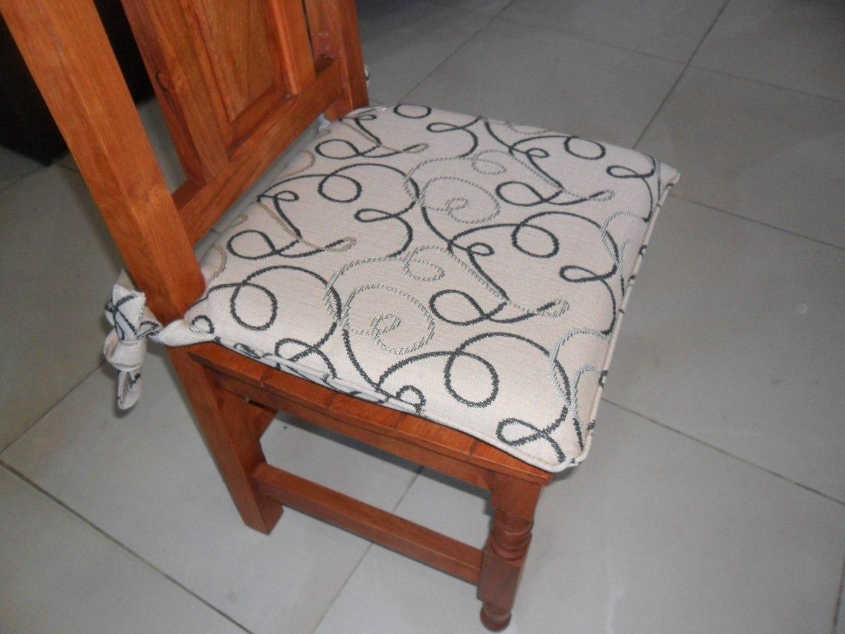 Almohadones Para Sillas En Jackard O Chenille - $ 300,00 en Mercado ...