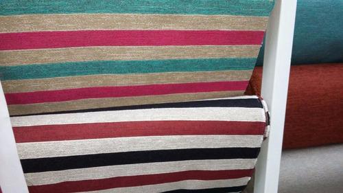 almohadones para sillas por unidad! rayados a pedido