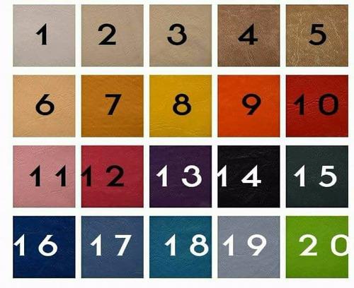 almohadones para sillones ecocuero medida 60x60x10 algarrobo