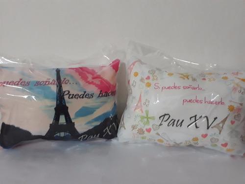 almohadones personalizados 15x20 pack x 30