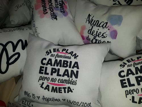 almohadones personalizados 20x30 pack x 30