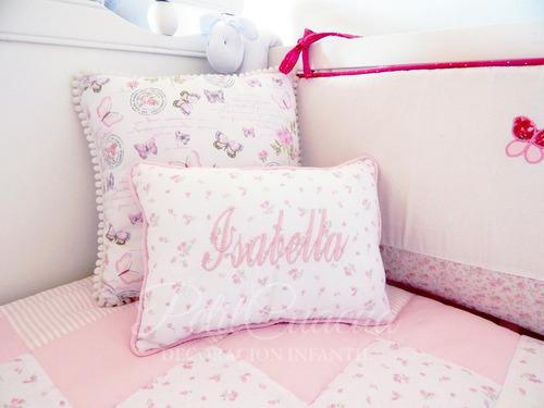 almohadones personalizados infantiles niños, nombre bordado