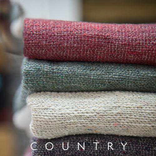 almohadones x2 rusticos tejido country  + camino