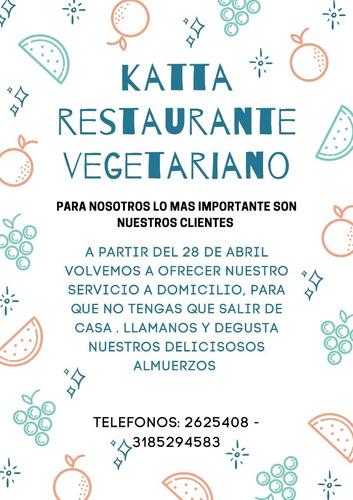 almuerzos vegetariano servicios a domicilio