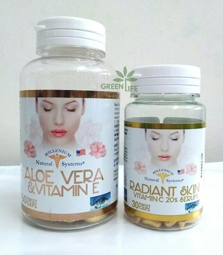 aloe vera y vitamina e facial + vitamina c facial y serum