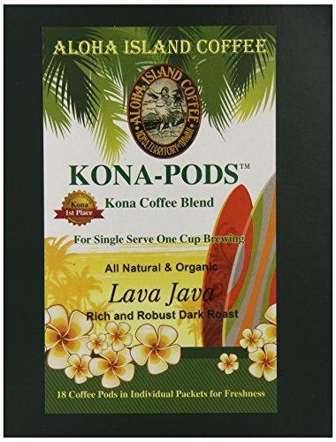aloha isla lava java asado oscuro kona mezcla dosis de café