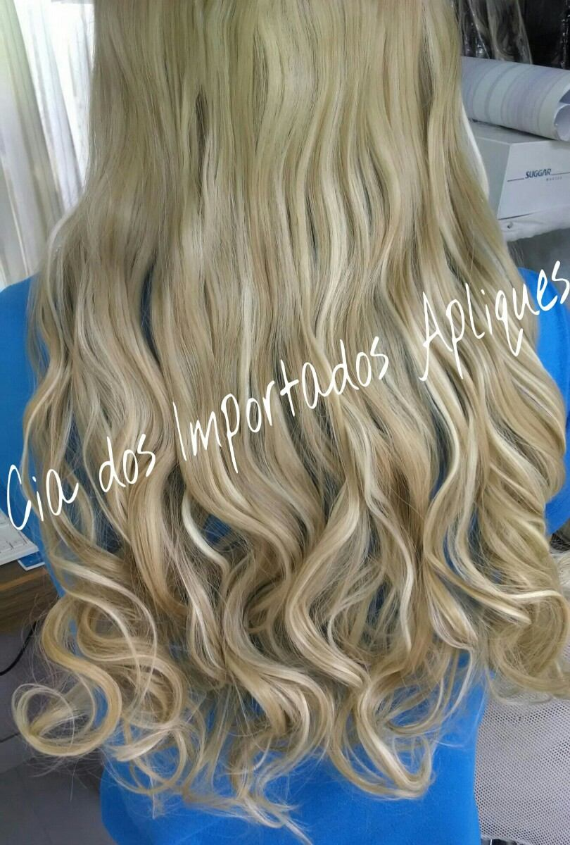 bb7cb9e60 alongamento aplique tic tac mega hair fibra loiro cinza. Carregando zoom.