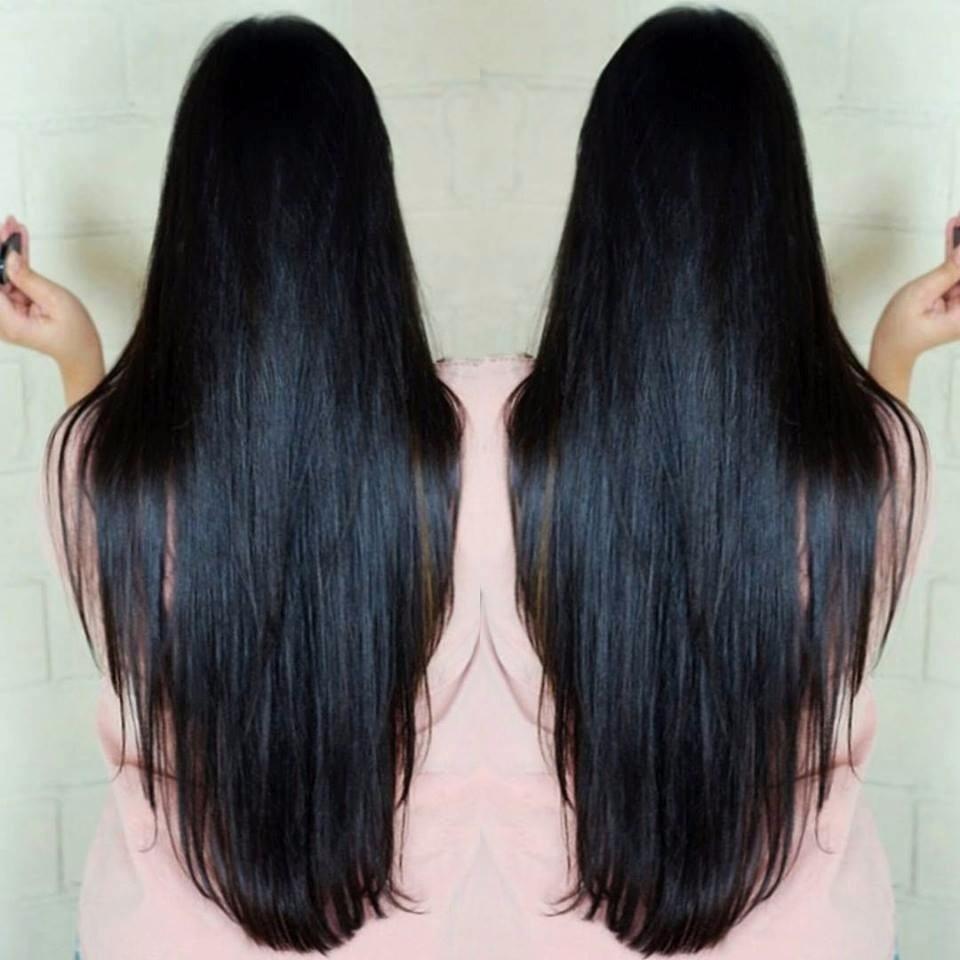 a5ff45f20 alongamento cabelo aplique tic tac preto azulado liso 80 cm. Carregando  zoom.
