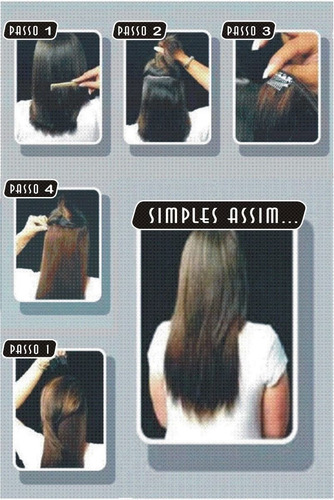 alongamento de cabelo aplik tic-tac pronta entrega