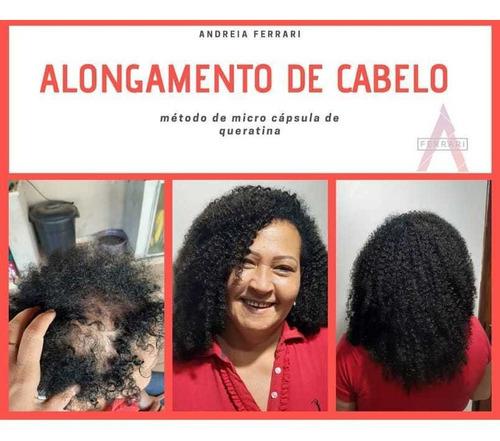 alongamento de cabelo com micro cápsulas de queratina