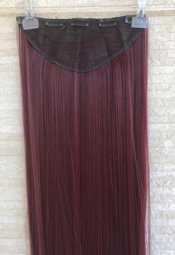 alongamento fibra organico tictac 80cm 1# preto castanho esc