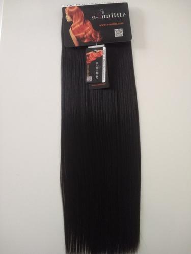 alongamento tic tac 8 peças 50 cm fibra japonesa preto #1b
