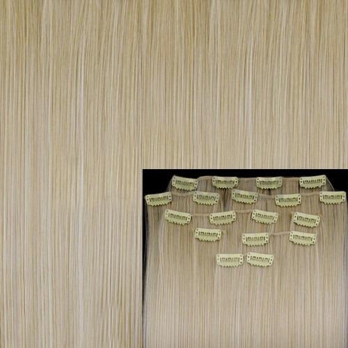 alongamento tic tac 8 peças 60 cm fibra japonesa #60 loiro