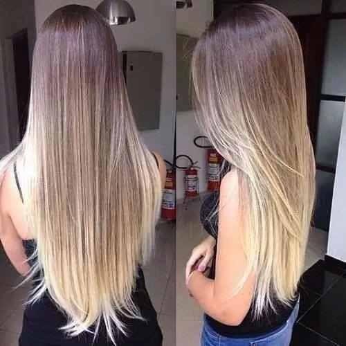 alongamento tic tac fibra orgânica 60cm-novo 2017 ombré hair
