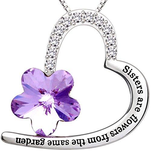 alov joyas libra esterlina plata hermanas son flores del mis