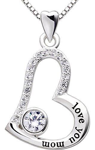 alov joyas libra esterlina plata te amo mamá amar corazón