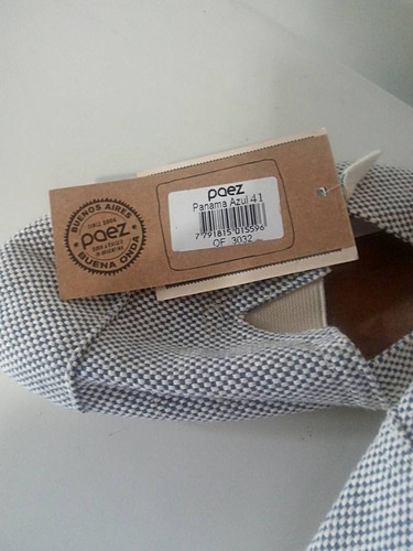 alpargata azul paez panama