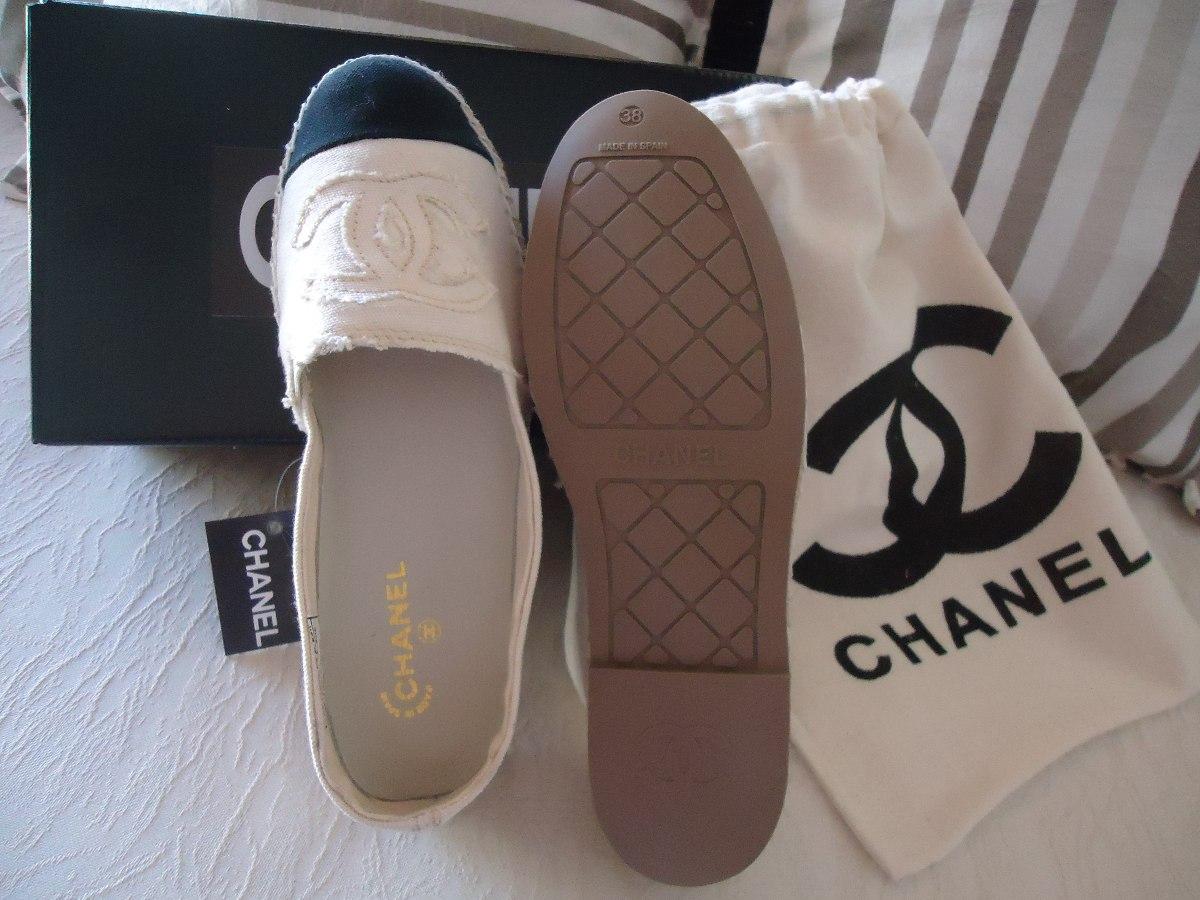 Alpargata Chanel Original Em Lona Tamanho Grande Vai Ate 44