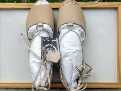 alpargata espadrille bottero couro nude tam 36 com tag