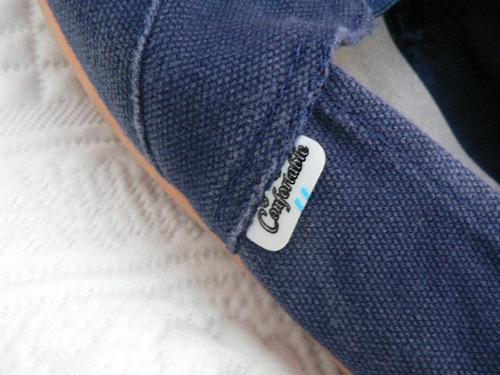 alpargata tela lona gruesa azul y suela goma