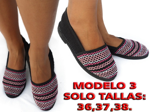 alpargata tipo zapatos cocuiza abuelita calzado unisex