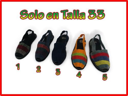 alpargata tradicionales (31-34) en hilos tejidos para niñ@s
