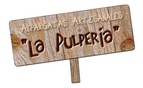 alpargatas artesanales la pulpería - gabardina (clásicas)