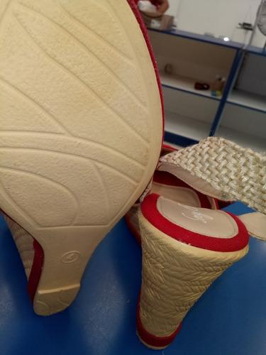 alpargatas boho plataforma 10 cm rojo azul beige