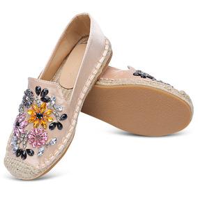 1cd20d0aa Alpargatas De Strass Na Moda Senhora Plana Calcanhar Sapatos por Global  e-Shop