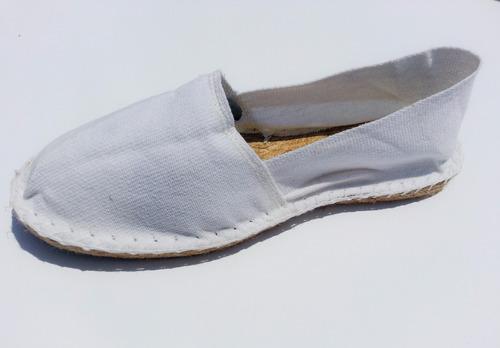 alpargatas - made in france - blancas