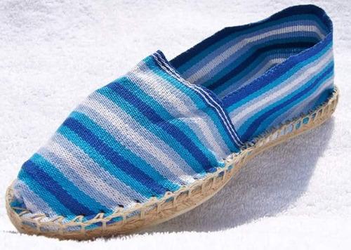 alpargatas - made in france - tonos azul claro