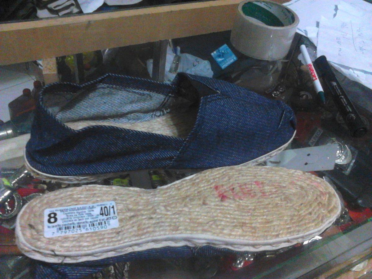 alpargatas rueda originales suela de yute de tela de jean