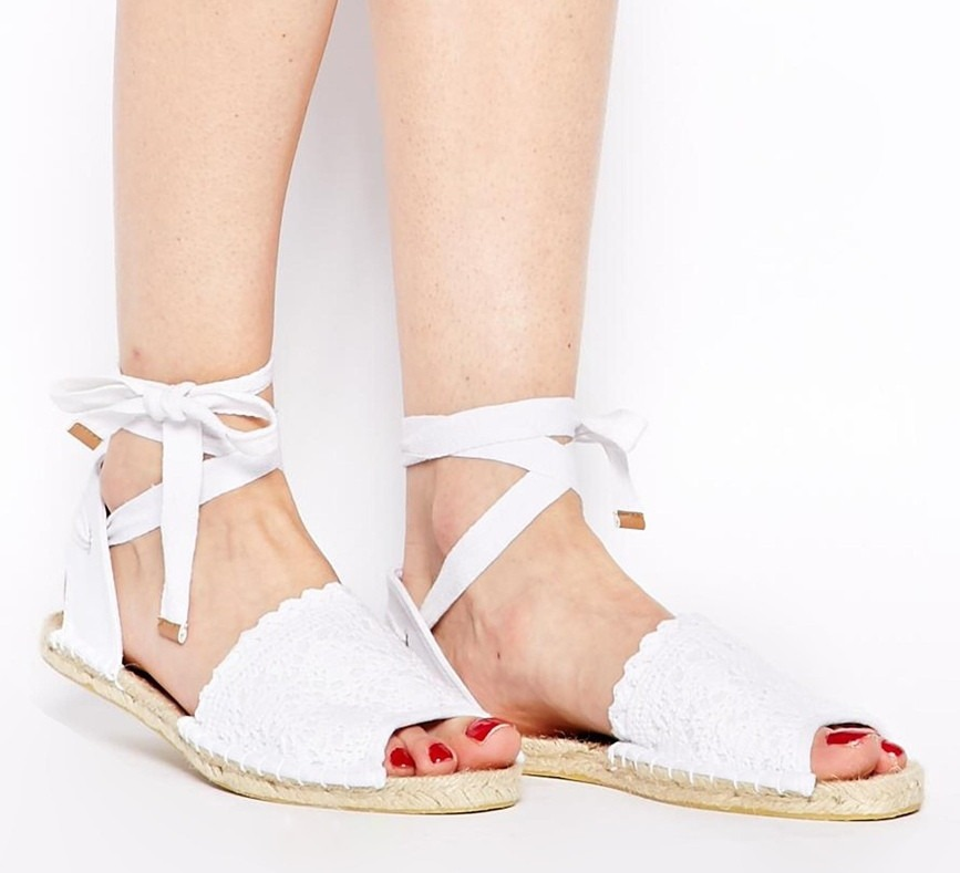 alpargatas sandalias asos suela rafia crochet amarras nuevas