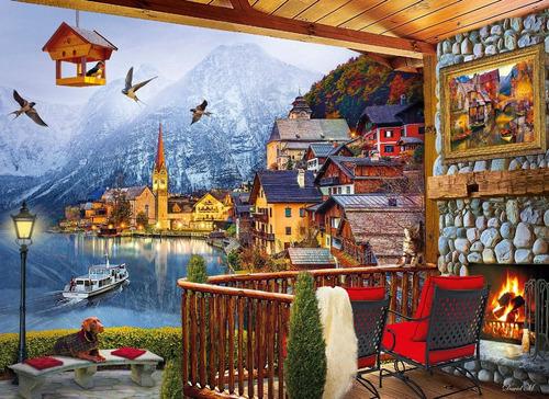 alpes lago hallstatt austria rompecabezas 1000 pz clementoni