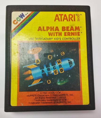 alpha beam with ernie atari 2600 cartucho retromex tcvg