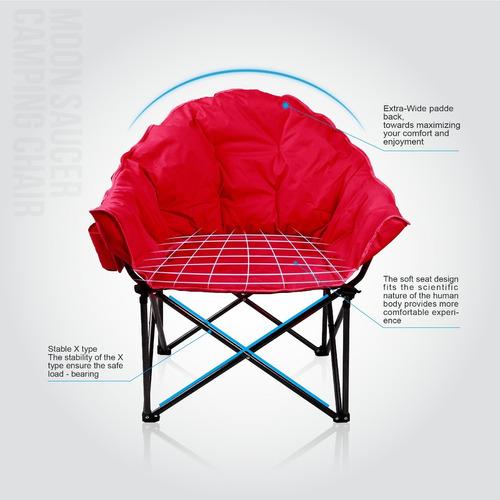 Silla Moon Saucer Con De Camping Alpha Plegable Camp Portav qVSzUMp