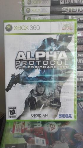alpha protocolo the espionage rpg xbox 360 nuevo