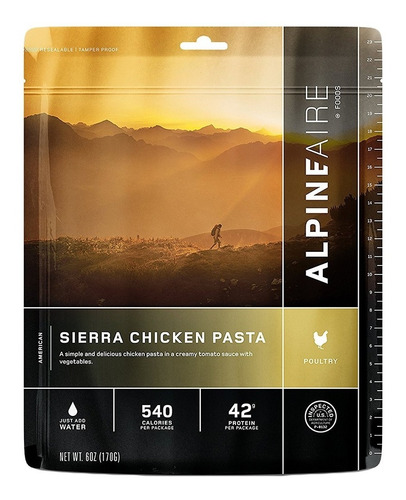 alpine aire sierra pasta de pollo